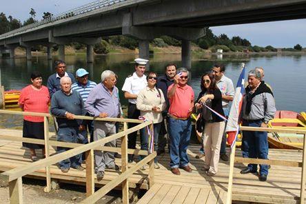 Con Recursos del Fondo Nacional de Desarrollo Regional, Cahuil Cuenta con Muelle para Boteros Turísticos