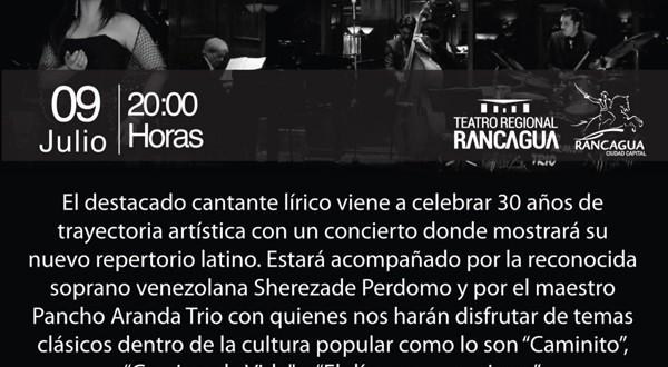 Tito Beltrán; 30 Años de Trayectoria en Teatro Regional Rancagua