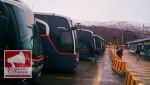 buses lin, paro contratistas