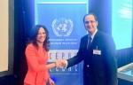 Diputado Kort y Presidenta del Parlamento de Aruba Marisol López-Tromp 2