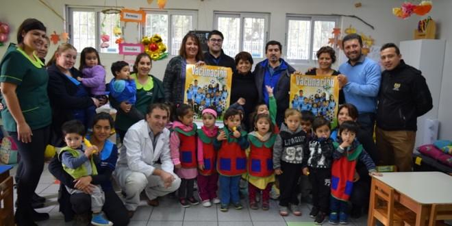 16º Semana de Vacunación de las Américas; Autoridad Sanitaria realiza Vacunación a Jardín de la Región