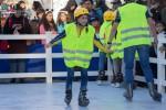 niños, jóvenes, pista de hielo